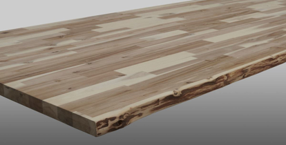 Picture of Acacia Worktop Unfinished with Live Edge (IT-LE-18)