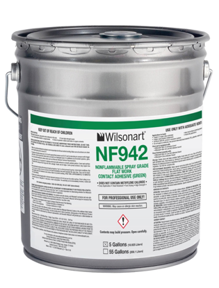 Picture of NF942 Wilsonart Non-Flammable Spray Grade (Green) - 5 Gal. Pail