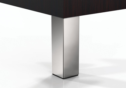 """Picture of Peter Meier 6""""Square Furniture Leg in Polished Chrome (556-15-C1)"""