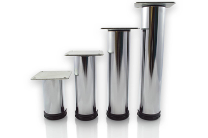 """Picture of Peter Meier 8"""" Tall Como Furniture Legs in Como Polished Chrome (552-20-C1)"""