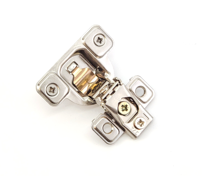 """Picture of Salice 3/4"""" Overlay Dowel Mounting Hinge (3 Cam) in Nickel for 106° Opening Angle"""