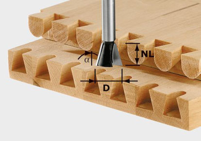 Picture of Dovetail Bit HW S8 D13,8/13,5/15°