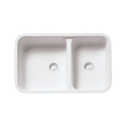 Picture of Wilsonart Double Offset Kitchen Reversible Sink